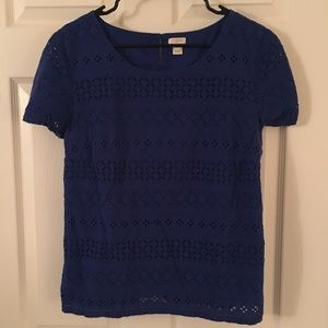 Royal Blue Eyelet Shirt